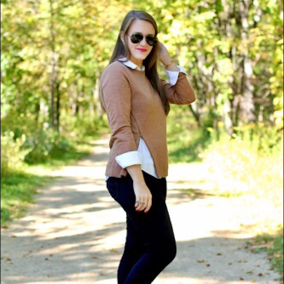 J Crew asymmetrical zip merino wool sweater